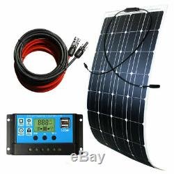 200W Complerte kit 2100W 12V SOLAR PANEL & 30A Controller + T Connector For Car