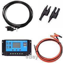 200W flexible Solar panel Kit 20A controller PV Connector for Camping Car Yacht