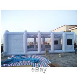 23x13x8Ft Inflatable Spray Mobile Custom Tent For Car Paint Booth KIT+Air Fan