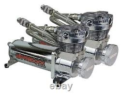 27685 3P Air Lift Complete Air Ride Suspension Kit with480 Chrome For 58-64 Impala