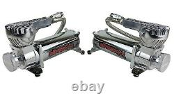 3 Preset Height Air Ride Suspension Kit withManifold & Chrome 580 For 58-64 Impala