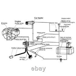 5KW 12V Remote Control Diesel Water Heater Kit for Car Truck Motor-Home Boat