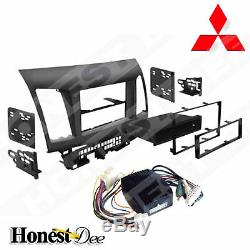 99-7011 Car Stereo Double-Din Radio Install Dash Kit for Lancer with Fosgate Amp