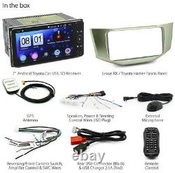 Android MP3 Player Car For Lexus RX Toyota Harrier GPS Stereo Radio Fascia Kit G