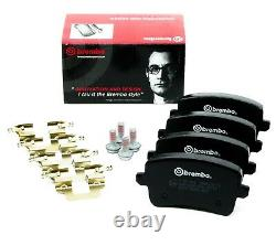 BREMBO Front and Rear Brake Kits-Discs, Pads and 500ml Fluid for Audi A4 A5 A4