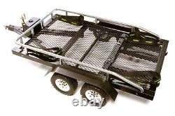 C27733BLACK Flatbed Dual Axle Car Trailer Kit for 1/10 Scale RC 580x320x110mm