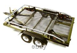 C27734GUN Flatbed Dual Axle Car Trailer Kit for 1/10 Scale RC 640x370x110mm