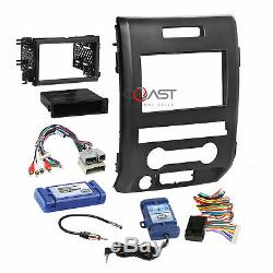 Car Radio Stereo Dash Kit Amplified SWC Steering Harness for 2009-12 Ford F-150