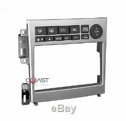 Car Radio Stereo Double Din Aluminum Dash Kit Harness for 2005-07 Infiniti G35