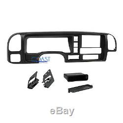 Car Radio Stereo Double Din Dash Kit Panel Wire Harness for 95-02 GM Truck SUV