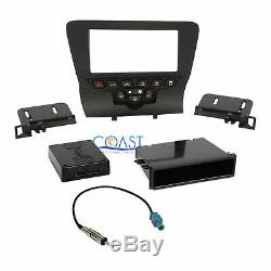 Car Stereo Single Double Din Dash Kit Harness Antenna for 2011-UP Dodge Charger
