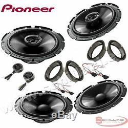 Car stereo front and rear 6 speakers kit for PIONEER Volkswagen VW Passat B6 05
