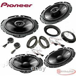 Car stereo front and rear 6 speakers kit for PIONEER Volkswagen VW Touran 2003-2