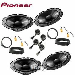Car stereo front and rear 8 speakers kit for PIONEER Alfa Romeo 147 2000 2014