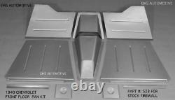 Chevrolet Chevy Car Front Floor Pan Kit For Stock Firewall 1940 EMS# 528