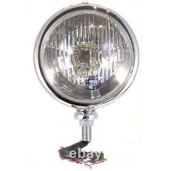 Complete Headlamp Polished Stainless Steel 7 For kit Car Classic