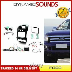 Double Din Car Fascia Steering Kit with Door & Hazard Button for Ford Ranger 12-16