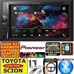 FOR TOYOTA SCION Bluetooth USB AUX CAR RADIO STEREO DOUBLE DIN DASH KIT