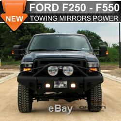 Fit 03-07 F250 Side Towing Mirror Power Heated Turn Signal Light LED Arrow Lamp