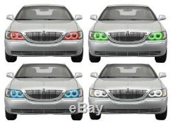 For Lincoln Town Car 05-11 RGB Multi Color LED Halo kit for Headlights