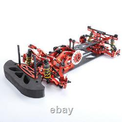 G4 Alloy &Carbon Frame Body Chassis Kit Red For RC 110 RC Drift Racing Car 4WD