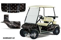 Golf Cart Graphics kit Decal for Club Car 1983-2014 Subdued Flag V2