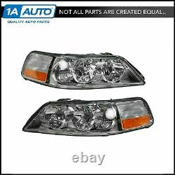 Headlights Headlamps Left & Right Pair Set NEW for 05-11 Lincoln Town Car
