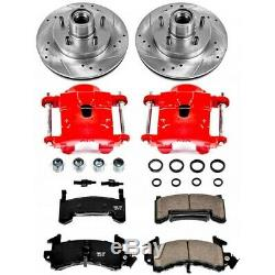 KC1482 Powerstop 2-Wheel Set Brake Disc and Caliper Kits Front for Chevy Olds
