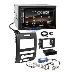 Kenwood DVD Sirius Bluetooth Stereo Dash Kit SWC Amp Harness for 09+ Ford F-150
