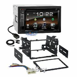 Kenwood DVD USB Bluetooth Stereo 2 Din Dash Kit Harness for 1986-up Honda Acura