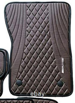 Kit-Car AMG style G Wagon G63 Floor Mats Brown Set for Mercedes Benz W463A 2018+