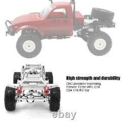 Metal RC Car Body Chassis Frame Kit Fits for WPL C14 C24 1/16 Car Truck(Silver)