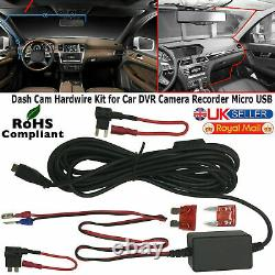 Micro USB Dash Cam Camera Car Hard Wire Kit Box Charger Adapter for DVR