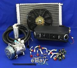New A/c Universal Under Dash Evaporator 5h09 Kit Ideal For Small Cars 432 12v
