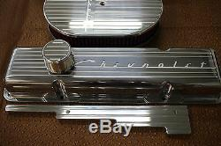 New Chevrolet Chevy 350 Finned Small Block Stock Height Billet Engine Dress Kit