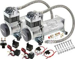 Onboard Dual Universal HD Air Compressors 200PSI. For Car/Truck Train Horn Kit