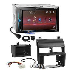 Pioneer 2018 Bluetooth Multimedia Stereo Dash Kit Harness for 88-94 Chevy GMC