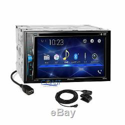 Pioneer 2018 DVD Bluetooth Stereo Silver Dash Kit Harness for 2003-2005 Mazda 6
