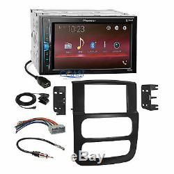 Pioneer 2018 USB Multimedia Stereo Dash Kit Harness for 02-05 Dodge Ram Truck