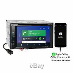Pioneer DVD BT Sirius Carplay Stereo Dash Kit Harness for 2005-11 Toyota Tacoma