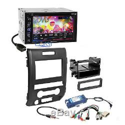 Pioneer DVD Car Stereo Dash Kit Steering SWC Interface for 2009-2014 Ford F-150