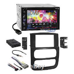 Pioneer DVD Touchscreen Stereo Dash Kit Bose Harness for 02-05 Dodge Ram Truck