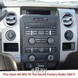 Pioneer DVD USB BT Camera Input Stereo Dash Kit Harness for 2009-12 Ford F-150