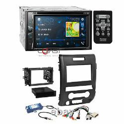 Pioneer DVD USB Bluetooth Stereo Dash Kit SWC Amp Harness for 09-14 Ford F-150