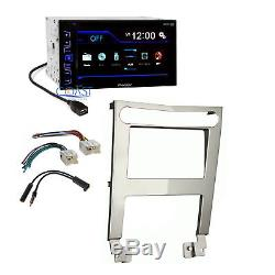 Pioneer Radio Stereo Silver 2 DIN Dash Kit Harness for 2004-06 Nissan Maxima