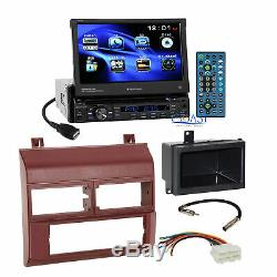 Planet Audio Car Stereo Burgundy Dash Kit Harness for 1988-94 Chevy GMC Truck