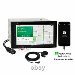 Planet Audio DVD Carplay Stereo Taupe Dash Kit Harness for 2006-11 Honda Civic