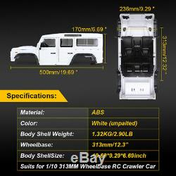RC D110 Defender Car Shell Body Kit for 1/10 Axial SCX10 90046 TRX4 313mm WB