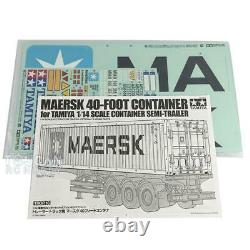 TAMIYA 40ft Container Kit 56516 for DIY Tractor Truck Car Trailer 1/14 RC Model