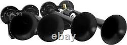 Train Horn Kit for Truck/Car/Pickup Loud System /0.5G Air Tank/150psi/4 Trumpets